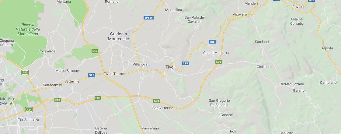 Mappa provincia Roma